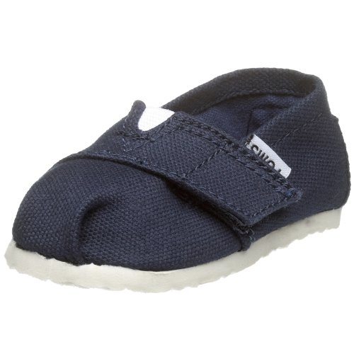 TOMS Infant/Toddler Tiny Classic Slip-On,Navy,9 M US Toddler