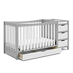 top rated Graco Remi 4-in-1 convertible baby bed and diaper changing table (gray / white) can be easily converted into a baby bed … 2021