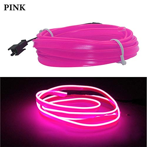 Hjiaqi - lovely Car interior lighting led atmosphere light,1M/3M/5M Flexible Car Interior Lighting LED Strip Garland Wire Rope Tube Line Neon Light With Cigarette Drive controller