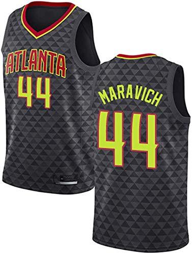 XSJY Camiseta De Baloncesto para Hombre NBA Atlanta Hawks 44# Pete Maravich Cómodo/Ligero/Transpirable Malla Bordada Swing Swing Sworing Sweatshirt,S:165~170cm/50~65kg