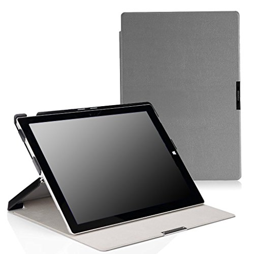 MoKo Microsoft Surface Pro 3 Case - Slim Lightweight Shell Stand Cover Case for Microsoft Surface Pro 3 12 Inch Tablet, Gray