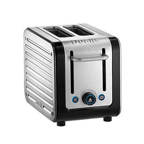 Dualit Architect 2 Slice Toaster | Brushed Stainless Steel with Black Trim | Extra-Wide Slots – Peek and Pop Function – Patented Perfect Toast Technology – Matching Kettle Available | 26505