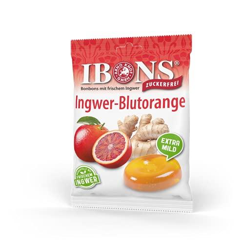 IBONS Lutschbonbons 75g zuckerfrei (Ingwer-Blutorange)