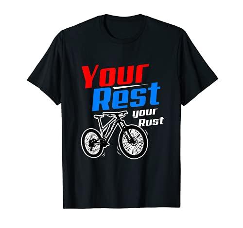 Tu resto tu bicicleta Rust Camiseta