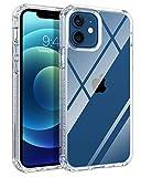 BENTOBEN Funda Compatible iPhone 12 6.1 Carcasa iPhone 12 Pro 6.1Cover Case Ultra Delgada Slim Case TPU Transparente Claro Protectora Anti-Golpes Resistente Durable Funda para iPhone 12/12 Pro 6.1