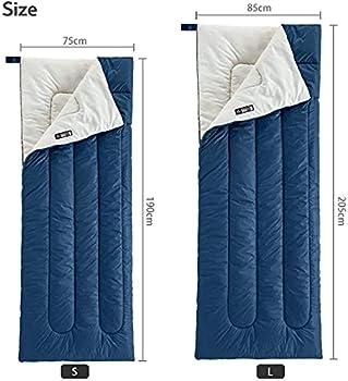 Naturehike Sac de Couchage Enveloppant pour Adultes 3 Saisons 18?25 °C Sac de Couchage Léger Portable Imperméable Rectangulaire pour Camping Randonnée (Bleu Marin)