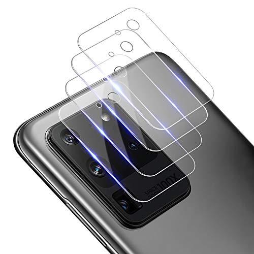 AloMit Protector Cámara Galaxy S20 Ultra (4 Unidades) (Ultra Transparente) Cristal Templado para Lente Cámara de Samsung Galaxy S20 Ultra Vidrio