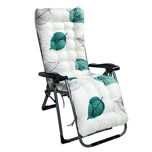 DE11 Relaxer - Cojín reclinable de jardín, antideslizante, de repuesto, suave y acogedor, colchoneta de asiento de silla de madera, colchón portátil con cuerda