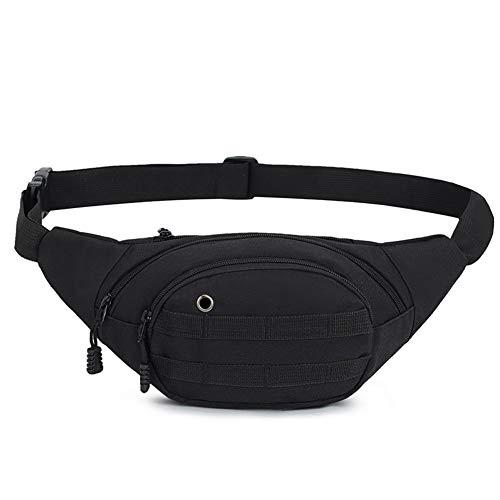 DAITET Fanny Pack for Men, Women, Kids,Outdoors, Workout Waist Bag Adjustable Belt, Waterproof Travel Bag, Running Bag fit for iPhone Samsung (Black)