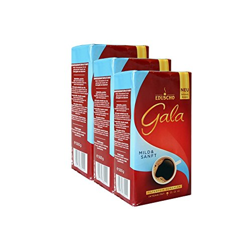 Eduscho Gala Mild & Sanft, 500g gemahlen 3er Pack