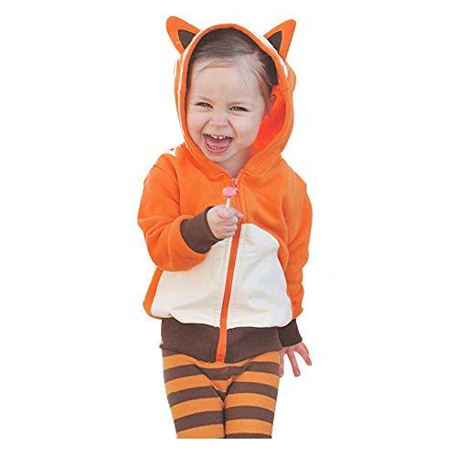 VANMO Kinderkleidung, Kinder Sweatshirt Cartoon Kapuzenpullover Kinderschlafanzug Cartoon Tier Kostüm Kleiner Fuchs Baby Waschbär Kleiner Pinguin Sweatshirt Mädchen Sweatshirt Jungen