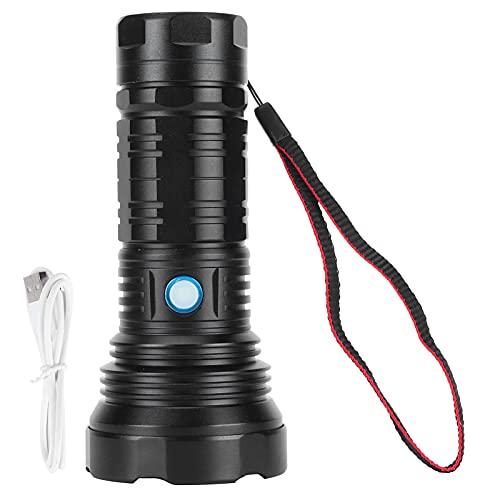 Linterna de luz fuerte, antorcha eléctrica de carga USB portátil para iluminación nocturna para el hogar