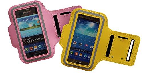 Sport-armband Lila, Fitness-hülle Running Handy Tasche Hülle für Apple ipod touch g iphone 3 4 5 S C, Samsung Galaxy 3 & 4 mini, Huawei Y330, Nokia Lumia 530, 532 mit Kopfhöreranschluss - Dealbude24 (Lila)