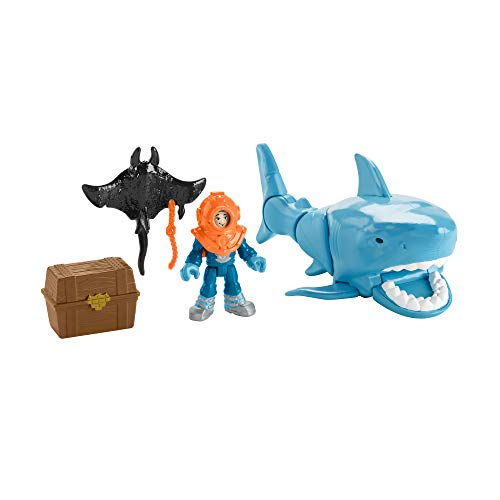 Imaginext Fisher Price Mega Bite Shark, Figure Set With Realistic Motion For 3-8 Years Old-Multicolor