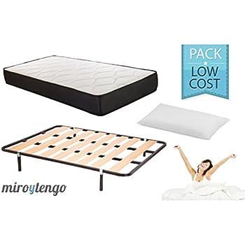 Pack Low Cost Descanso Completo 150X190 (colchon + somier + Patas ...