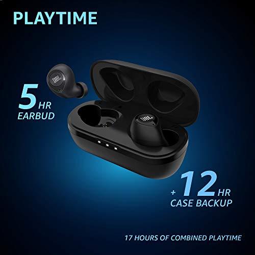 JBL C105TWS by Harman Truly Wireless Bluetooth in Ear Headphone with Mic (Black)