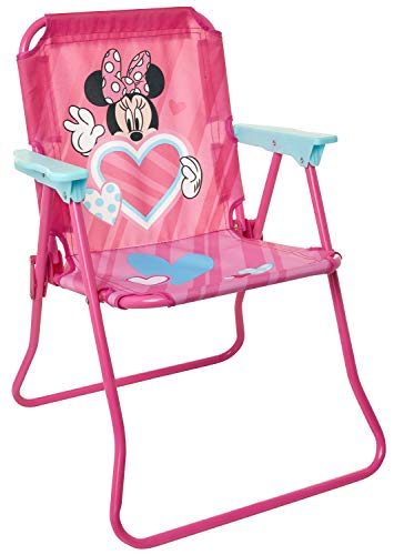 Minnie Mouse Patio Chair for Kids, Portable Folding Park Lawn Chairs, Spring 2020, Model:601512-1SOC