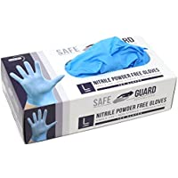 100-Piece Safeguard Nitrile Disposable Gloves