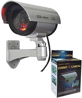 Vepson Dummy Camera LED Light Flashing CCTV Security Camera (Silver)