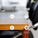 Profolio | Tischfolie feinmattiert für Glastische & Hochglanzoberflächen + abgeschrägte Kante | keine Luftblasen | Tischdecke, Schutzfolie 2mm dick | Made in Germany | Größe wählbar | 180 x 100 cm - 2