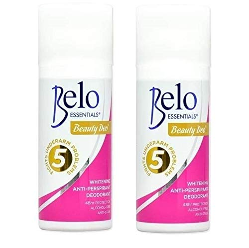 2 Pack Belo Essentials Beauty Deo - Fights Underarm Problem - Anti-Perspirant Deodorant, 40ml Each
