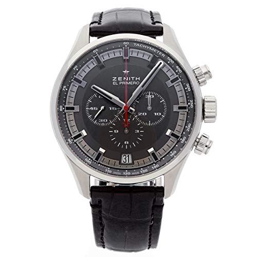 Zenith El Primero Chronograph Automatic Grey Dial Black Rubber Men's Watch 03228040091R576