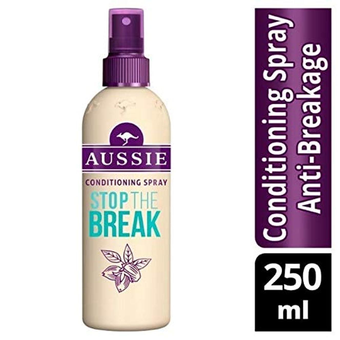 ぬれたシネマ樫の木[Aussie ] オージーはブレーク保護&コンディショニングスプレー250ミリリットルを停止します - Aussie Stop The Break Protection & Conditioning Spray 250ml [並行輸入品]