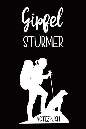Notizbuch | Bergsteigen mit Hund: Gipfeltagebuch für Gipfeltouren | 64 Seiten (6x9 Zoll) ca DIN A5 | Bergsteiger Organizer für Gipfelstürmerin und ... mit Hund |schönes Geschenk zum Klettern