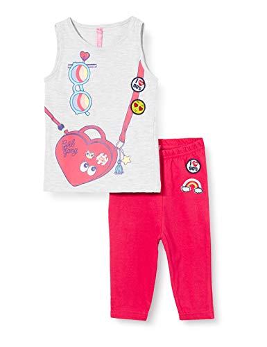 Lina Pink BF.Roll.pco Pijama, Gris (Gris Chine/Rouge Gris Chine/Rouge), 3 años para Niñas