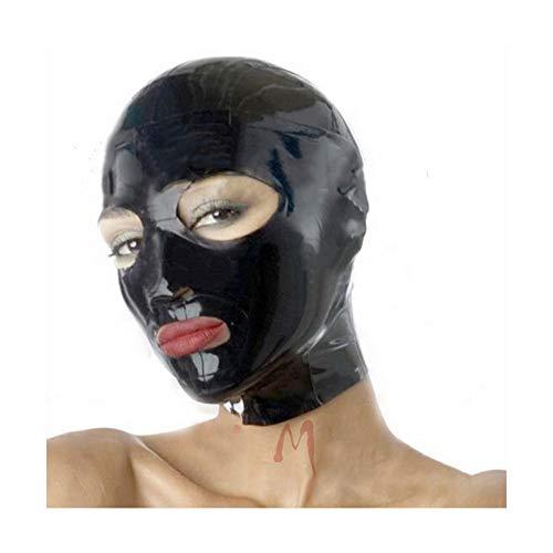 Latex Masks, Funny Latex Hood Full Head Masks, Handmade Face For Crossdresser Transgender Drag Queen Halloween Costumes, Unisex-Adult, One Size