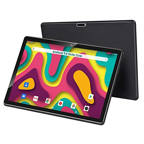 10 inch Tablet, Android 9.0, 32GB Storage, Octa-Core Processor, 1920x1200 IPS HD Display, 5G Wi-Fi(Black)