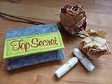 Tampon Täschchen grau - apfelgrün I kleine Tasche aus Filz für deine Utensilien I passt in jede...