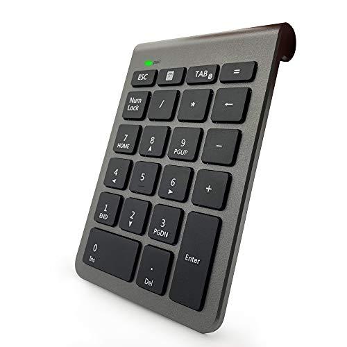 Pubioh プトライムデー クーポン テンキーボード Bluetooth 3.0 テンキー アップグレード 22キーブルートゥース 数字キーボード ワイヤレス Tabキー付き 1000万回高耐久 極薄型 テンキーパッド Laptop/デスクトップ/PC/ノートブックなどに対応 3年間保証付き