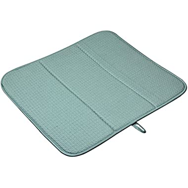Sinland Kitchen Microfiber Dish Drying Mats Super Absorbent 16Inch X 18Inch Dark Green