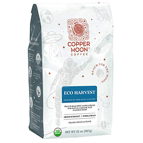 Copper Moon Eco Harvest Organic Blend, Medium Roast Coffee, Whole Bean, 2 lb. (260154)
