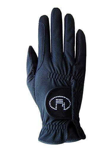 Roeckl Sports Damen Handschuh Lisboa, Damenreithandschuh, Schwarz, 7