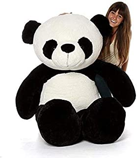 CLICK4DEAL Loveable HUGABLE Soft Giant Life Size , Long Huge Teddy Bear(Best for Someone Special) White and Black Panda 6 ...