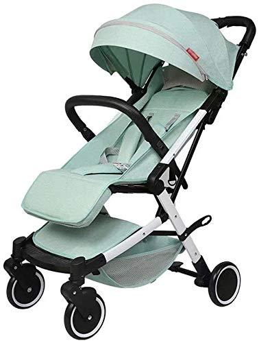 Suge Cochecito de bebé portátil carro de bebé del cochecito Cochecito Baby- cochecito de bebé plegable portátil de viaje Cochecito madre caliente ajustable verde del manillar niños