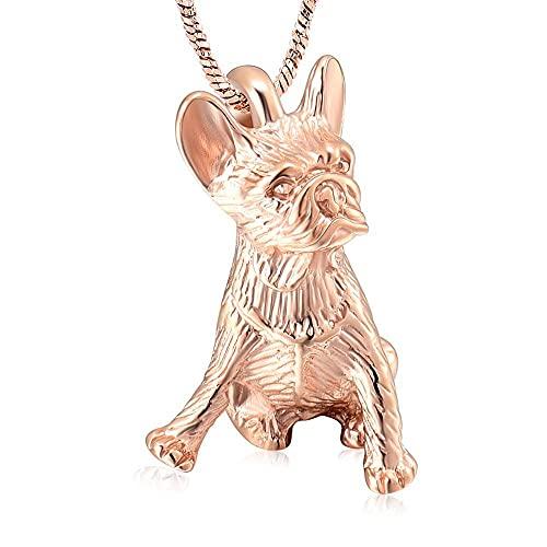 WANFJ Cremación Collar Collar De Urna De Cremación con Forma De Perro, Joyería Conmemorativa De Recuerdo, Soporte para Cenizas-C