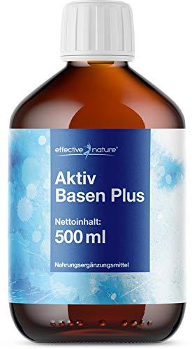 Basisches Wasser - Basenkonzentrat Aktiv Basen Plus, Sehr hoher pH-Wert (11.4), Unterstützt Ihre Basenkur, 500ml