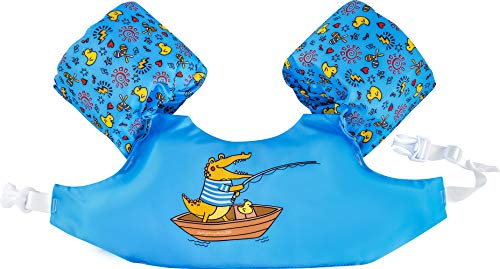 Dark Lightning Kids Pool Floats for 2-6, Swim Vest with Water Wings for 30-50 Pounds Boys and Girls, Best Toddlers Life Jacket Floatation in Puddle/Beach, Be A Jumper