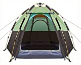 Toogh 3-4 Person Camping Tent 60 Seconds Set Up Tent Waterproof Pop Up Hexagon...