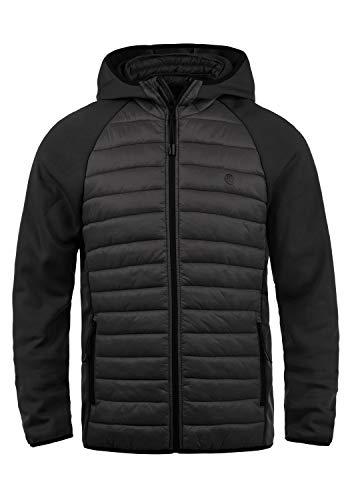 Blend Nils Sporty Herren Steppjacke Übergangsjacke Jacke gefüttert mit Kapuze, Größe:XL, Farbe:Black (70155)