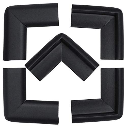 YeVhear - Lote de 5 protectores de espuma para muebles, mesa de escritorio, borde de protección, cojines de esquina, protección de 50 x 22 x 20 x 6 mm, color negro