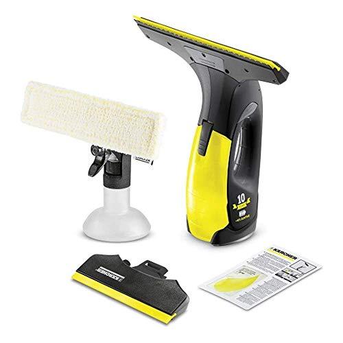 Kärcher Akku Fenstersauger WV 2 Premium Black Edition (Akkulaufzeit: 35 min, 2x wechselbare Absaugdüsen - breit und schmal, Sprühflasche mit Mikrofaserbezug, Fensterreiniger-Konzentrat 20 ml)