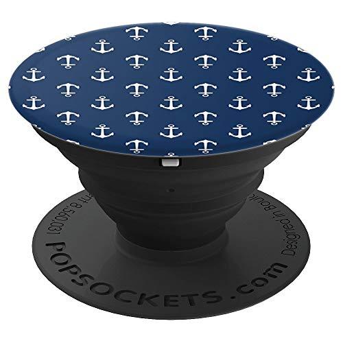 Anker Blau Muster - PopSockets Ausziehbarer Sockel und Griff für Smartphones und Tablets