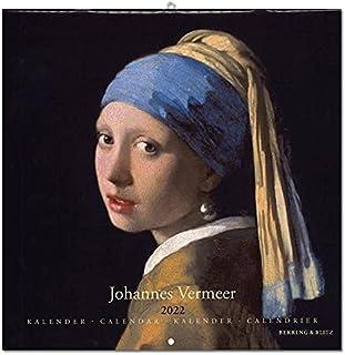 2022年 ラージカレンダー「VERMEER/フェルメール」 壁掛け 画家 風景 アート スケジュール 英語 オランダ語 輸入雑貨