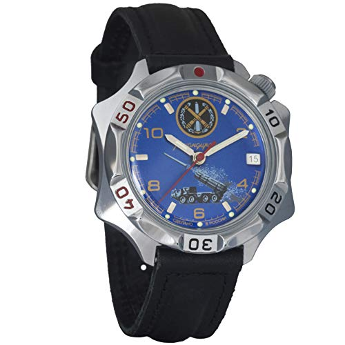 Vostok Komandirskie 2414 Reloj Militar Ruso mecánico de Cuerda Manual // 531772 (Classic)