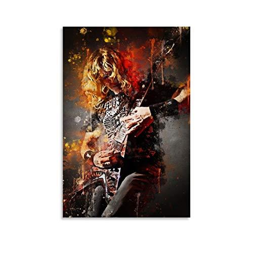 Qiuni Póster decorativo de Dave Mustaine Megadeth para pared, lienzo para sala...