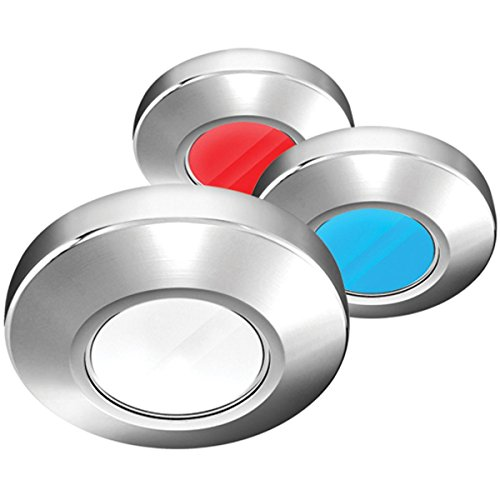 I2Systems Inc i2Systems Profile P1120 Tri-Light Surface Light - Red, White & Blue - Brushed Nickel Finish
